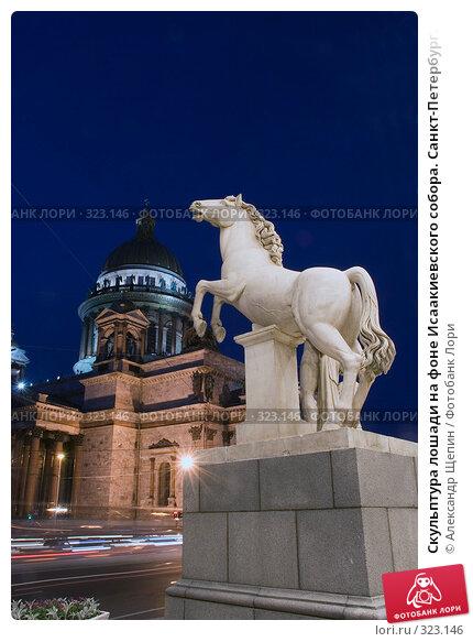 Скульптура лошади на фоне Исаакиевского собора. Санкт-Петербург., эксклюзивное фото № 323146, снято 14 июня 2008 г. (c) Александр Щепин / Фотобанк Лори