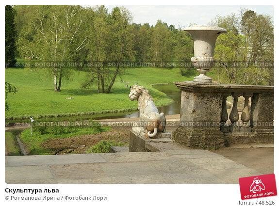 Скульптура льва, фото № 48526, снято 20 мая 2007 г. (c) Ротманова Ирина / Фотобанк Лори