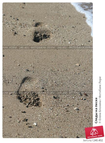 Купить «Следы на песке», фото № 240402, снято 9 августа 2007 г. (c) Елена Блохина / Фотобанк Лори