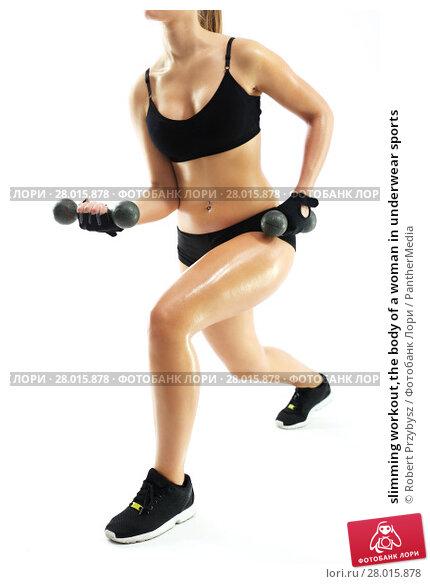 Купить «slimming workout,the body of a woman in underwear sports», фото № 28015878, снято 20 апреля 2019 г. (c) PantherMedia / Фотобанк Лори