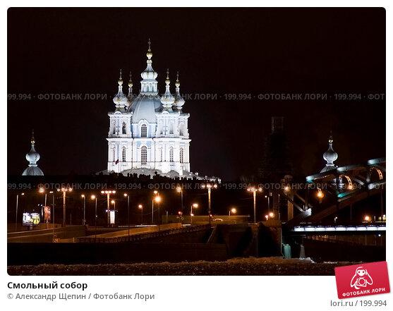 Смольный собор, эксклюзивное фото № 199994, снято 1 декабря 2007 г. (c) Александр Щепин / Фотобанк Лори