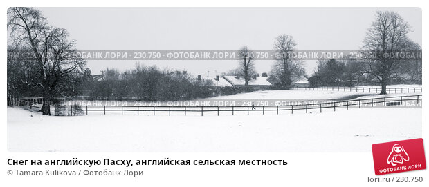 Снег на английскую Пасху, английская сельская местность, фото № 230750, снято 23 марта 2008 г. (c) Tamara Kulikova / Фотобанк Лори
