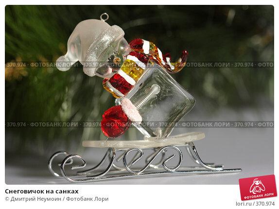 Снеговичок на санках, эксклюзивное фото № 370974, снято 26 июня 2008 г. (c) Дмитрий Неумоин / Фотобанк Лори
