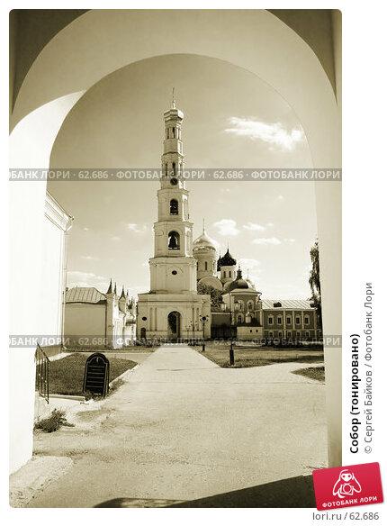 Собор (тонировано), фото № 62686, снято 23 июня 2007 г. (c) Сергей Байков / Фотобанк Лори