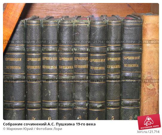 Собрание сочинений А.С. Пушкина 19-го века, фото № 21714, снято 20 августа 2005 г. (c) Марюнин Юрий / Фотобанк Лори