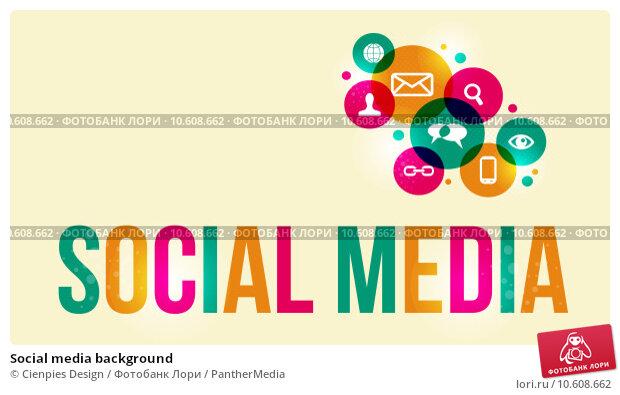 Social media background. Стоковая иллюстрация, иллюстратор Cienpies Design / PantherMedia / Фотобанк Лори