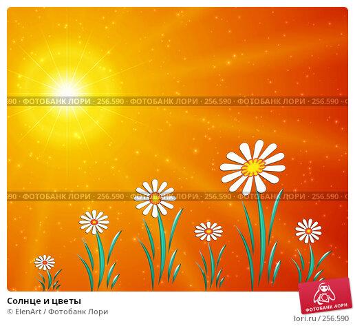 Солнце и цветы, иллюстрация № 256590 (c) ElenArt / Фотобанк Лори