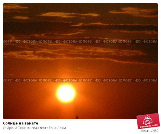 Солнце на закате, эксклюзивное фото № 450, снято 4 августа 2004 г. (c) Ирина Терентьева / Фотобанк Лори