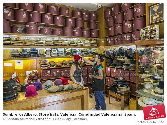 Купить «Sombreros Albero, Store hats. Valencia. Comunidad Valenciana. Spain.», фото № 29622154, снято 19 октября 2013 г. (c) age Fotostock / Фотобанк Лори