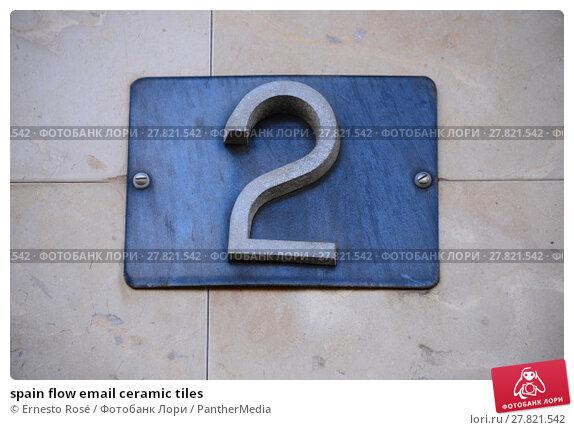 Купить «spain flow email ceramic tiles», фото № 27821542, снято 19 октября 2018 г. (c) PantherMedia / Фотобанк Лори