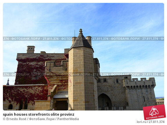 Купить «spain houses storefronts olite provinz», фото № 27811374, снято 20 октября 2018 г. (c) PantherMedia / Фотобанк Лори