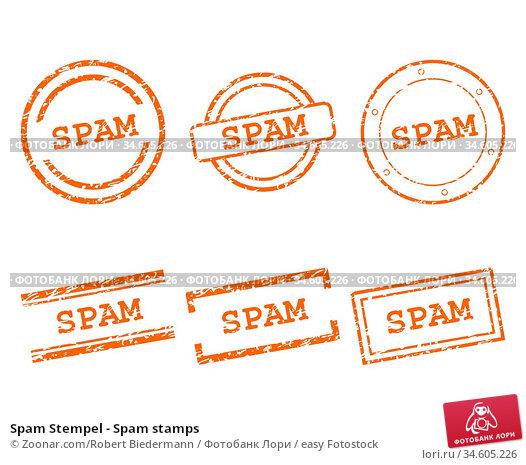 Spam Stempel - Spam stamps. Стоковое фото, фотограф Zoonar.com/Robert Biedermann / easy Fotostock / Фотобанк Лори