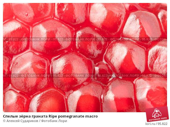 Спелые зёрна граната Ripe pomegranate macro, фото № 95822, снято 10 октября 2007 г. (c) Алексей Судариков / Фотобанк Лори