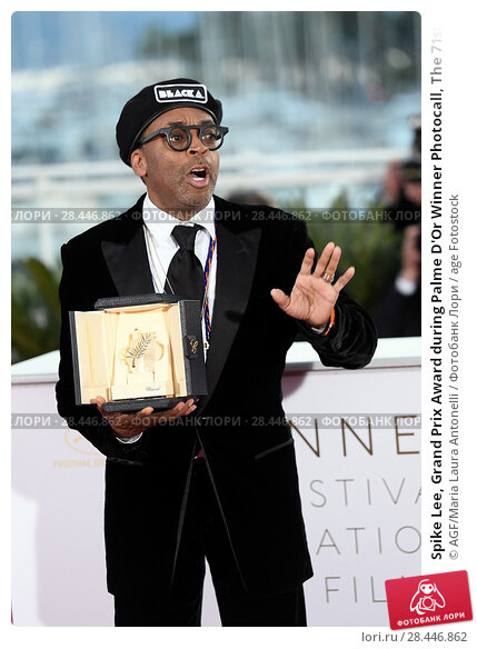 Купить «Spike Lee, Grand Prix Award during Palme D'Or Winner Photocall, The 71st Annual Cannes Film Festival, Cannes 19 May 2018.», фото № 28446862, снято 19 мая 2018 г. (c) age Fotostock / Фотобанк Лори