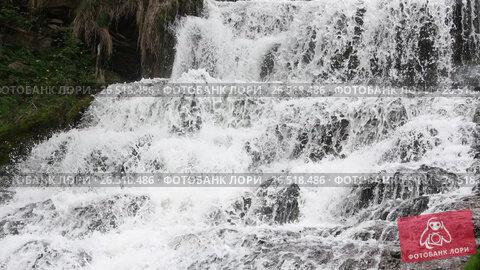 Купить «Spring Dzhurynskyi cascading waterfall», видеоролик № 26518486, снято 22 мая 2017 г. (c) Юрий Брыкайло / Фотобанк Лори