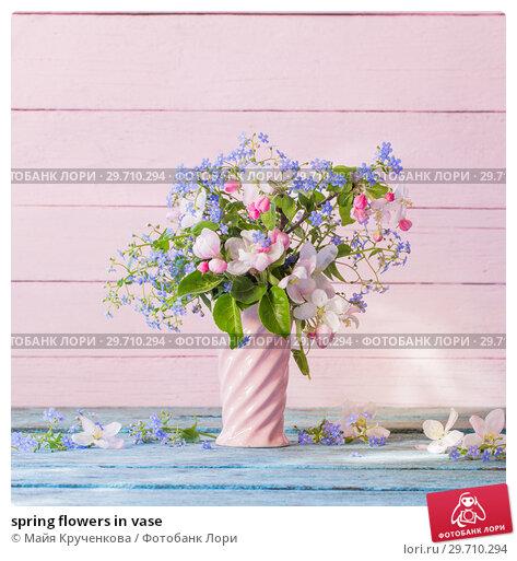 Купить «spring flowers in vase», фото № 29710294, снято 8 мая 2018 г. (c) Майя Крученкова / Фотобанк Лори