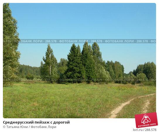 Среднерусский пейзаж с дорогой, фото № 288578, снято 26 августа 2005 г. (c) Татьяна Юни / Фотобанк Лори