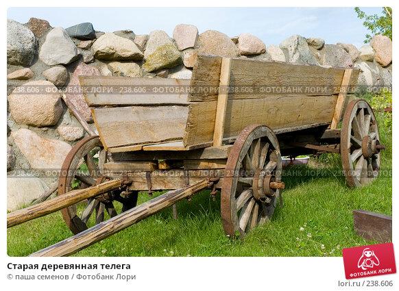 Старая деревянная телега, фото № 238606, снято 23 января 2017 г. (c) паша семенов / Фотобанк Лори