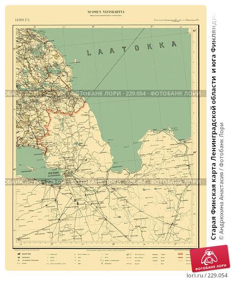 Старая Финская карта Ленинградской области  и юга Финляндии, иллюстрация № 229054 (c) Андрюхина Анастасия / Фотобанк Лори