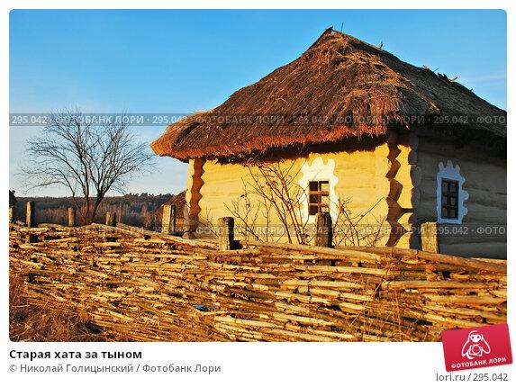 Старая хата за тыном, фото № 295042, снято 6 января 2008 г. (c) Николай Голицынский / Фотобанк Лори