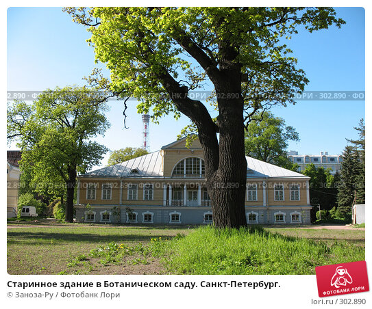 Старинное здание в Ботаническом саду. Санкт-Петербург., фото № 302890, снято 24 мая 2008 г. (c) Заноза-Ру / Фотобанк Лори