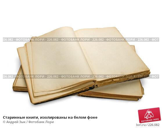 Купить «Старинные книги, изолированы на белом фоне», фото № 226082, снято 27 марта 2007 г. (c) Андрей Зык / Фотобанк Лори