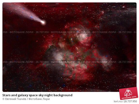 Купить «Stars and galaxy space sky night background», фото № 28737950, снято 11 июня 2016 г. (c) Евгений Ткачёв / Фотобанк Лори