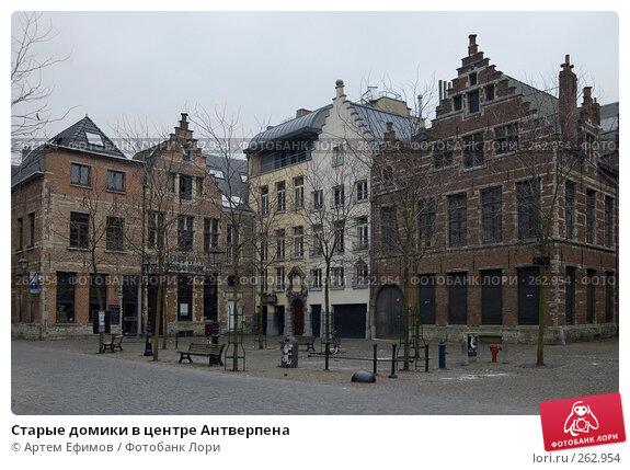 Старые домики в центре Антверпена, фото № 262954, снято 27 октября 2007 г. (c) Артем Ефимов / Фотобанк Лори