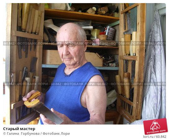 Старый мастер, фото № 60842, снято 8 июля 2006 г. (c) Галина  Горбунова / Фотобанк Лори