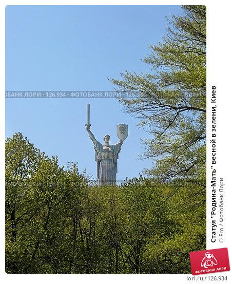 """Статуя """"Родина-Мать"""" весной в зелени, Киев, фото № 126934, снято 21 августа 2017 г. (c) Fro / Фотобанк Лори"""