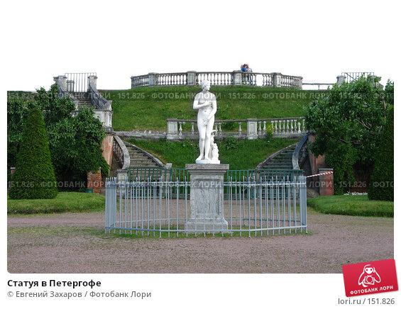 Статуя в Петергофе, фото № 151826, снято 21 июня 2007 г. (c) Евгений Захаров / Фотобанк Лори