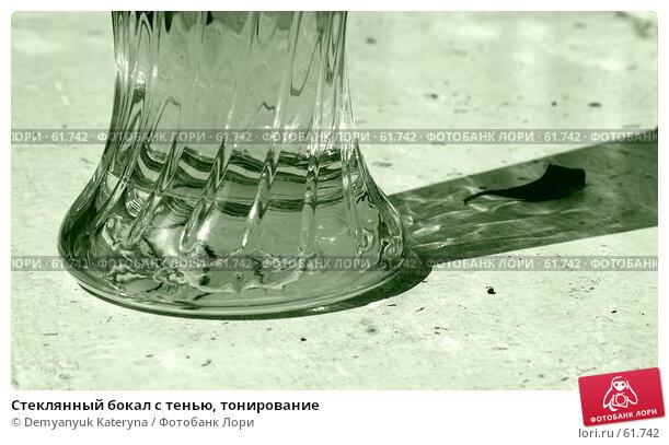 Стеклянный бокал с тенью, тонирование, фото № 61742, снято 13 июля 2007 г. (c) Demyanyuk Kateryna / Фотобанк Лори