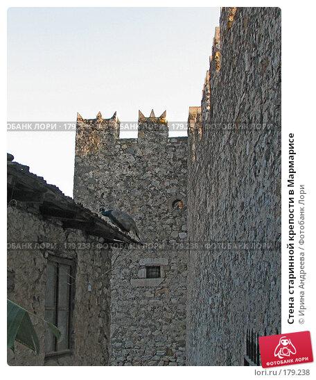 Стена старинной крепости в Мармарисе, фото № 179238, снято 2 августа 2006 г. (c) Ирина Андреева / Фотобанк Лори