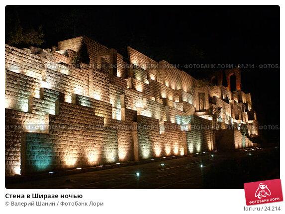 Стена в Ширазе ночью, фото № 24214, снято 26 ноября 2006 г. (c) Валерий Шанин / Фотобанк Лори