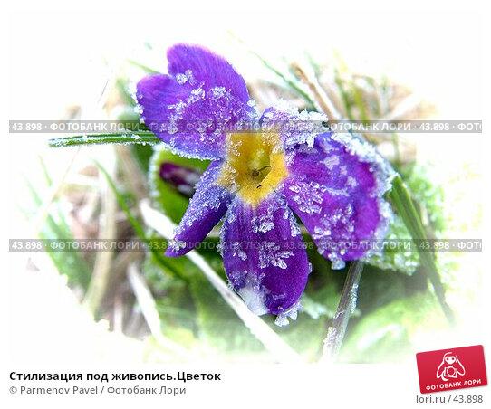 Стилизация под живопись.Цветок, фото № 43898, снято 6 мая 2007 г. (c) Parmenov Pavel / Фотобанк Лори