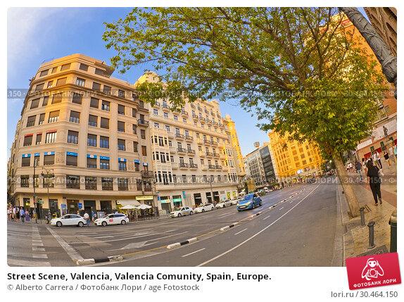 Street Scene, Valencia, Valencia Comunity, Spain, Europe. Стоковое фото, фотограф Alberto Carrera / age Fotostock / Фотобанк Лори