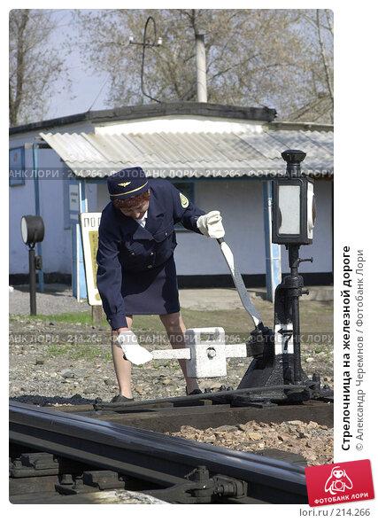 Купить «Стрелочница на железной дороге», фото № 214266, снято 24 марта 2018 г. (c) Александр Черемнов / Фотобанк Лори