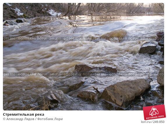 Купить «Стремительная река», фото № 249850, снято 12 апреля 2008 г. (c) Александр Лядов / Фотобанк Лори