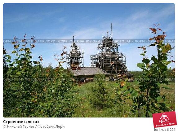 Строение в лесах, фото № 6294, снято 7 июля 2006 г. (c) Николай Гернет / Фотобанк Лори