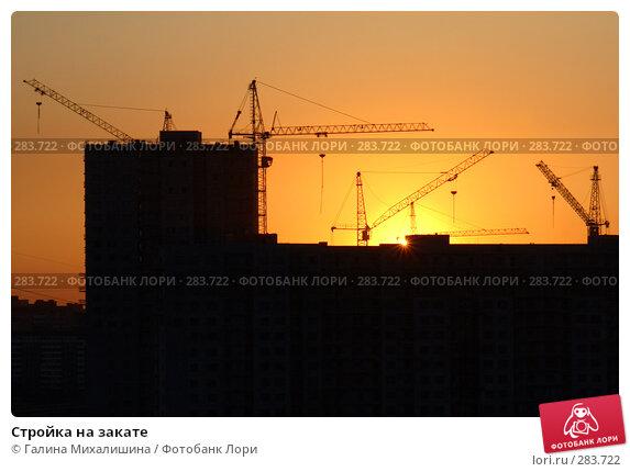Стройка на закате, фото № 283722, снято 4 мая 2008 г. (c) Галина Михалишина / Фотобанк Лори