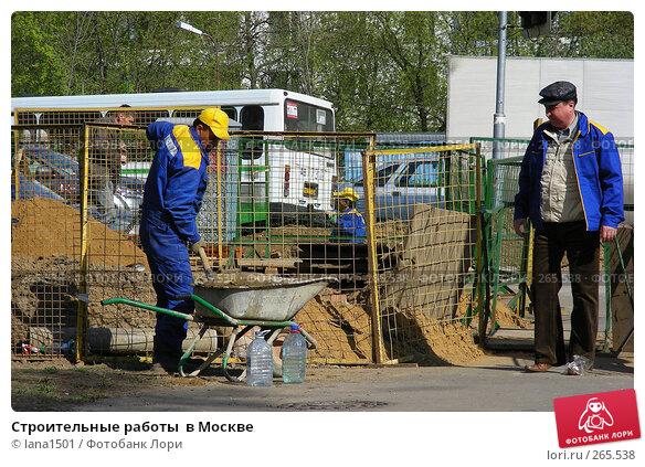 Строительные работы  в Москве, эксклюзивное фото № 265538, снято 28 апреля 2008 г. (c) lana1501 / Фотобанк Лори