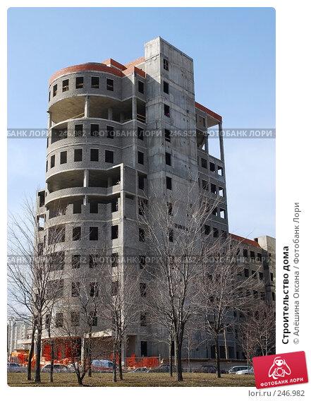Строительство дома, эксклюзивное фото № 246982, снято 3 апреля 2008 г. (c) Алёшина Оксана / Фотобанк Лори
