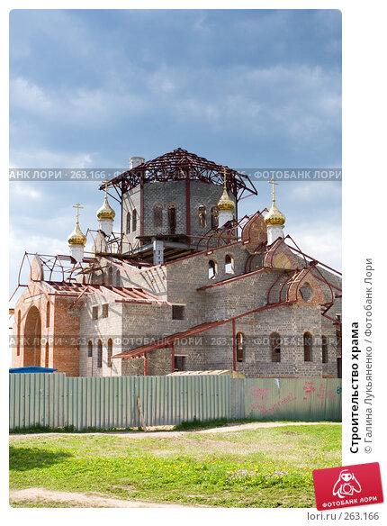 Строительство храма, эксклюзивное фото № 263166, снято 26 апреля 2008 г. (c) Галина Лукьяненко / Фотобанк Лори