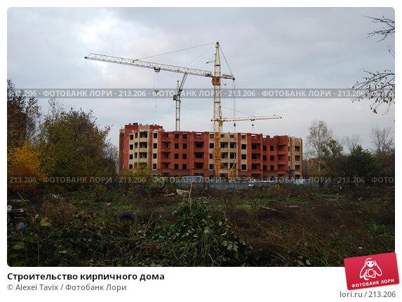 Строительство кирпичного дома, эксклюзивное фото № 213206, снято 21 октября 2007 г. (c) Alexei Tavix / Фотобанк Лори