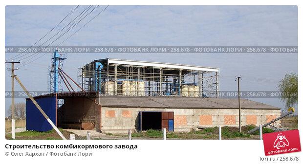 Строительство комбикормового завода, фото № 258678, снято 11 апреля 2008 г. (c) Олег Хархан / Фотобанк Лори