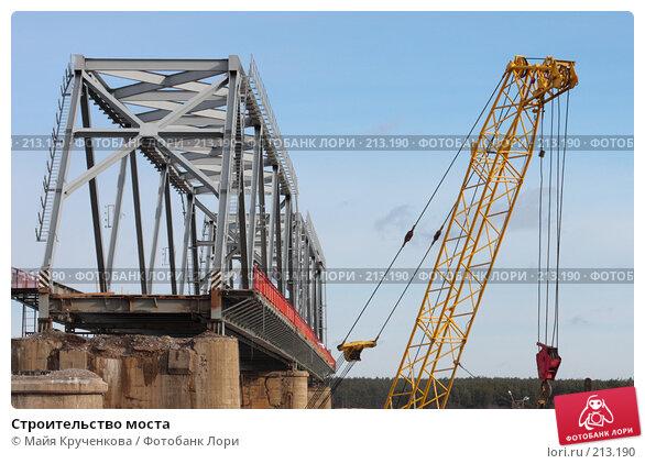Строительство моста, фото № 213190, снято 24 февраля 2008 г. (c) Майя Крученкова / Фотобанк Лори