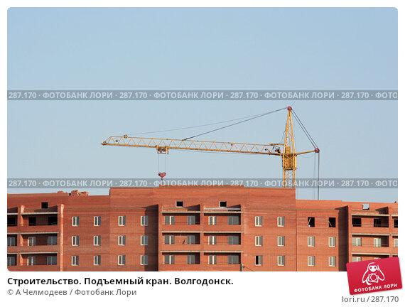 Купить «Строительство. Подъемный кран. Волгодонск.», фото № 287170, снято 10 февраля 2008 г. (c) A Челмодеев / Фотобанк Лори