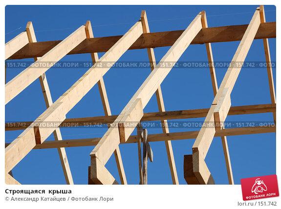 Строящаяся  крыша, фото № 151742, снято 14 сентября 2007 г. (c) Александр Катайцев / Фотобанк Лори