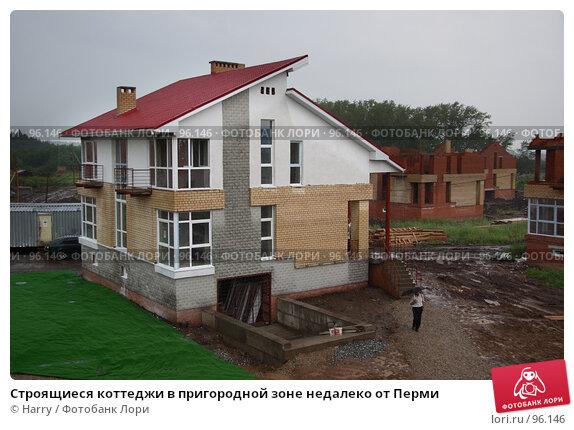 Купить «Строящиеся коттеджи в пригородной зоне недалеко от Перми», фото № 96146, снято 6 июля 2007 г. (c) Harry / Фотобанк Лори