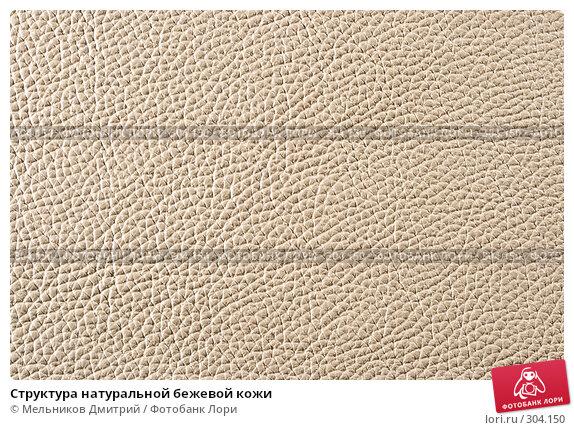 Структура натуральной бежевой кожи, фото № 304150, снято 11 мая 2008 г. (c) Мельников Дмитрий / Фотобанк Лори